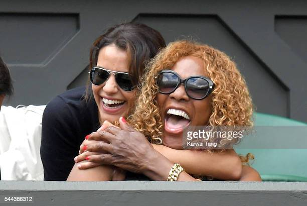 Oracene Price attends day seven of the Wimbledon Tennis Championships at Wimbledon on July 03 2016 in London England