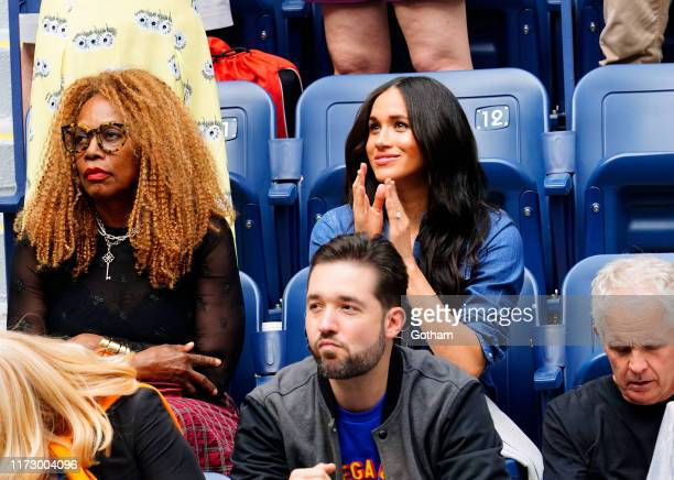 Oracene Price Meghan Duchess of Sussex and Alexis Ohanian cheer on Serena Williams on September 07 2019 in New York City