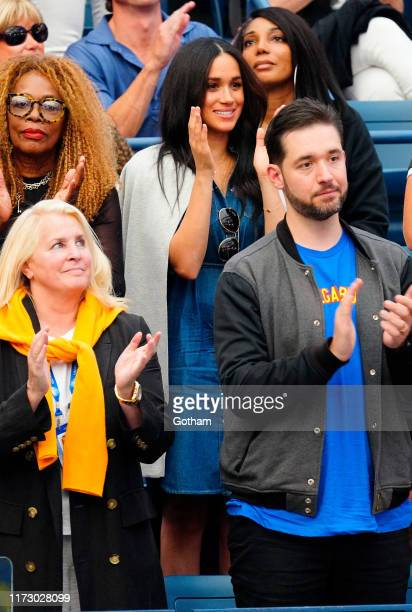 Oracene Price Meghan Duchess of Sussex and Alexis Ohanian watch Serena Williams at the 2019 US Open Women's final on September 07 2019 in New York...
