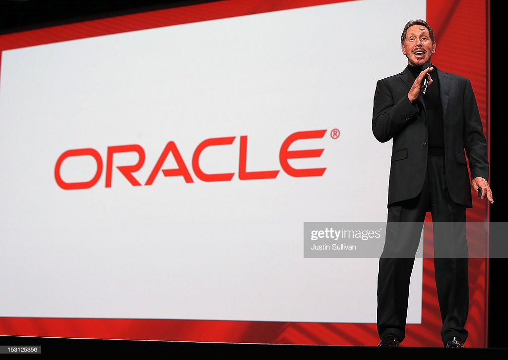 Oracle CEO Larry Ellison Speaks At Oracle OpenWorld 2012 : News Photo