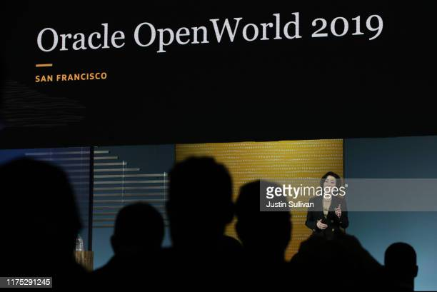 Oracle CEO Safra Catz delivers a keynote address during the 2019 Oracle OpenWorld on September 17, 2019 in San Francisco, California. Oracle CEO...