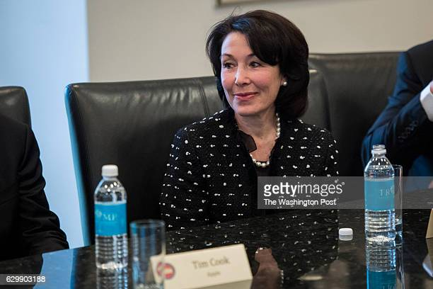 Oracle CEO Safra Catz listens during a meeting with technology industry leaders at Trump Tower in New York NY on Wednesday Dec 14 2016
