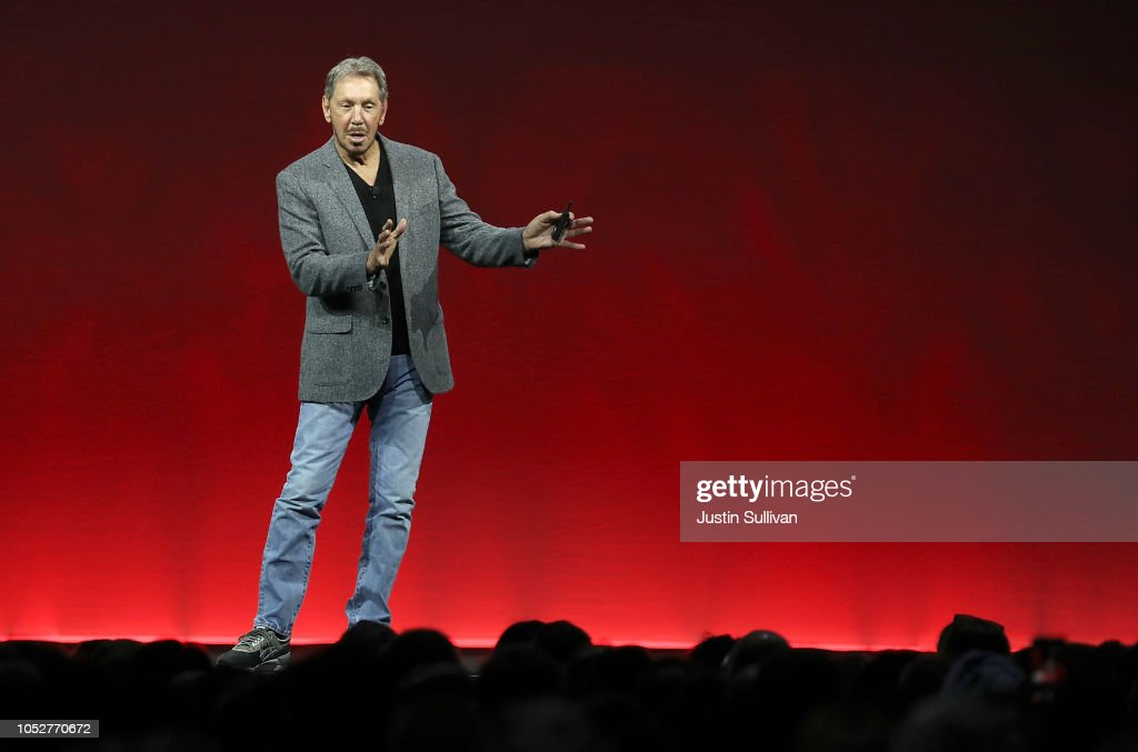 Larry Ellison Delivers Keynote At Annual Oracle OpenWorld Conference : News Photo