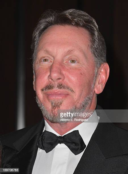 Oracle Corp CEO Larry Ellison arrives to the 10th Annual Living Legends of Aviation Awards at The Beverly Hilton Hotel on January 18 2013 in Beverly...