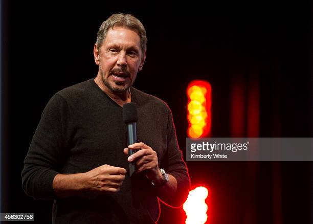 Oracle Executive Chairman of the Board and Chief Technology Officer, Larry Ellison, delivers a keynote address during the 2014 Oracle Open World...