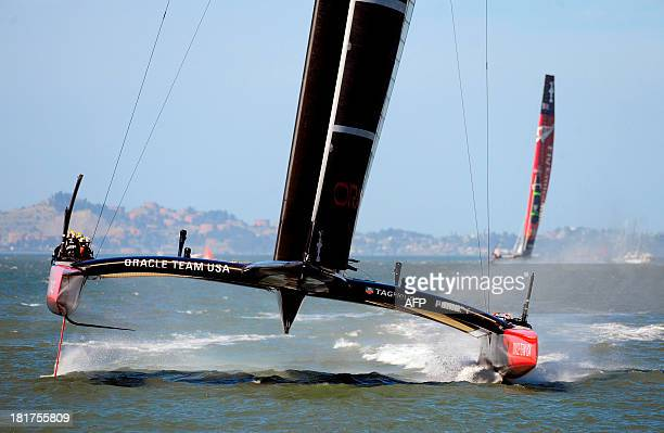 Oracle Team USA comes in to win race 18 of the 34th America's Cup on September 24 2013 in San Francisco Oracle Team USA sailed to an unprecedented...