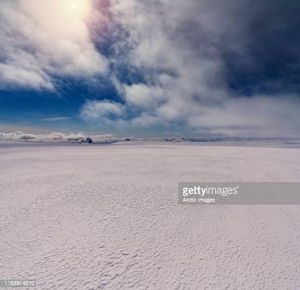 oraefajokull glacier, vatnajokull ice cap, iceland - arctic stock pictures, royalty-free photos & images