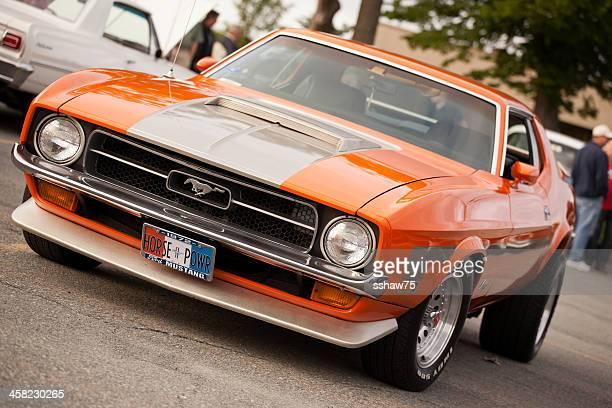 Orange 1972 Mustang