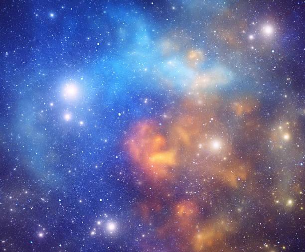 Orange and blue nebula