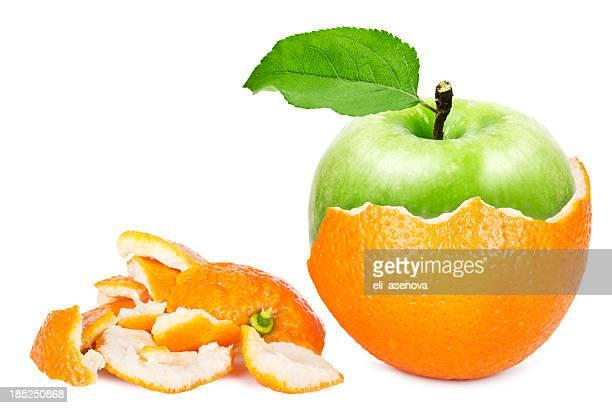 オレンジのアップル - 剥いた ストックフォトと画像