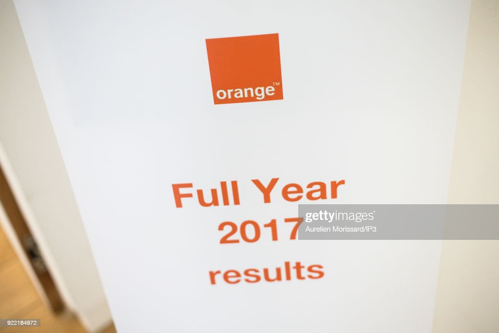 Orange Group Presents Its Annual Results In Paris : News Photo
