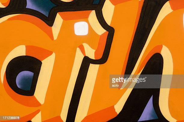 Orange Schwarz Graffiti