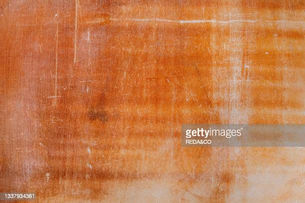 Orange brown stone abstract background copy space.