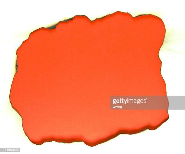 Orange verbrannt Loch