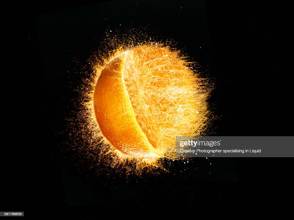 Orange Burst : Stock Photo
