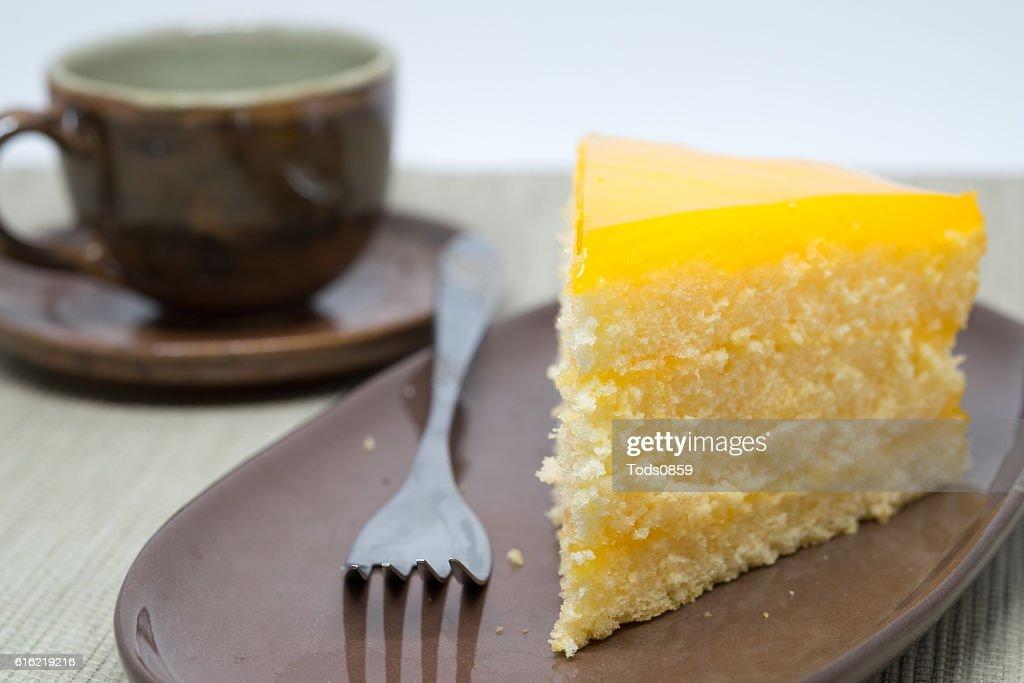 Orange Kuchen : Stock-Foto