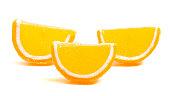 orange candy fruit slice isolated white