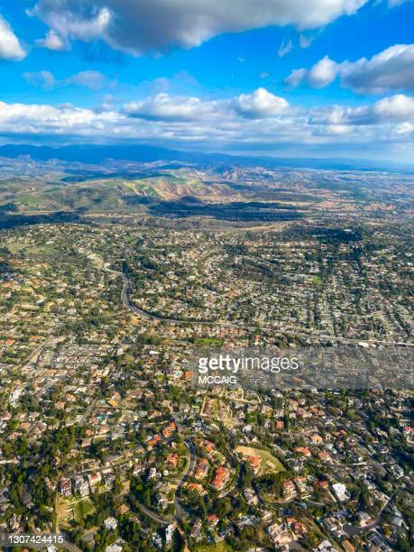 orange county california aerial view - santa ana california stock pictures, royalty-free photos & images