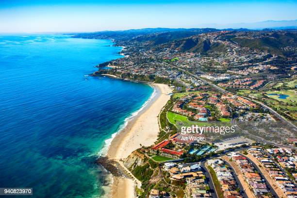 orange county coastline aerial - california stock pictures, royalty-free photos & images