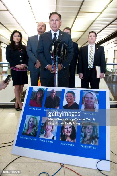 Orange County District Attorney Tony Rackauckas speaks at a press conference after Scott Dekraai pleaded guilty to the Oct 12 2011 Seal Beach Salon...