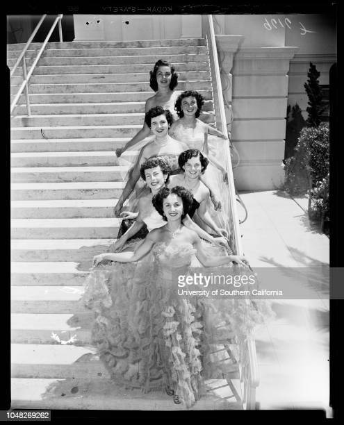 Orange County Queen and Attendants 20 June 1952 Helene Gorman 17 years Dorothy Patterson 17 yearsNancy Anderson 16 yearsJosephine Courreges 16...