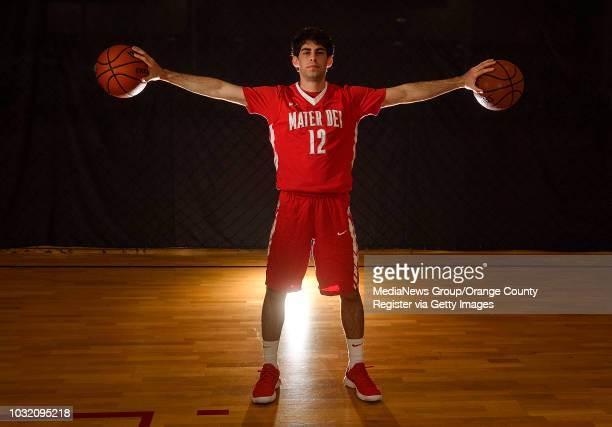 Orange County Register All-County boys basketball player Spence Freedman of Mater Dei in Anaheim on Tuesday, Apr 3, 2018.