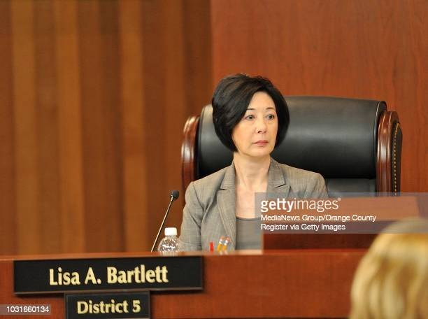 Orange County Supervisor Lisa Bartlett during the Board of Supervisors meeting on Tuesday in Santa Ana ///ADDITIONAL INFORMATION Slug...