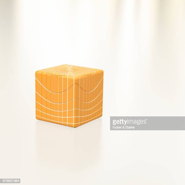 orange cube with network - kreativität stock pictures, royalty-free photos & images