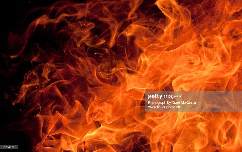 Orange Dancing Flame : ストックフォト