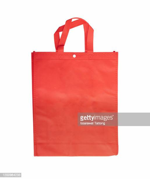 orange eco bags, eco cloth bags to reduce global warming, shopping bags eco burlap, woven fabric recycling bag violet orange, - tote bag stock pictures, royalty-free photos & images