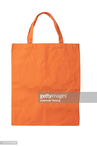 orange eco bags, eco cloth bags to reduce global warming, shopping bags eco burlap, woven fabric recycling bag violet orange, - トートバッグ ストックフォトと画像