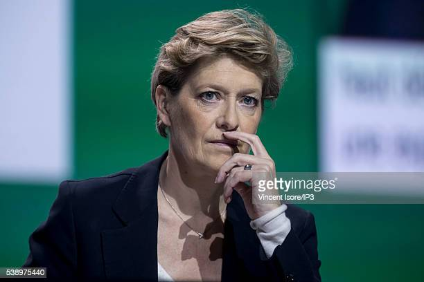 Orange Executive Director Fabienne Dulac attends the general shareholders meeting of French telecom operator Orange organized at Palais des Congres...