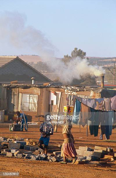 Orange Farm South Africa in May 1990 A new shantytown