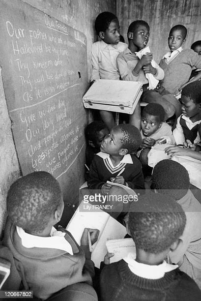 Orange Farm South Africa in May 1990 School at Orange Farm moved population of Soweto without infrastructure to accommodate them