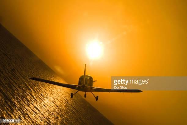 orange flight - aereo ultraleggero foto e immagini stock