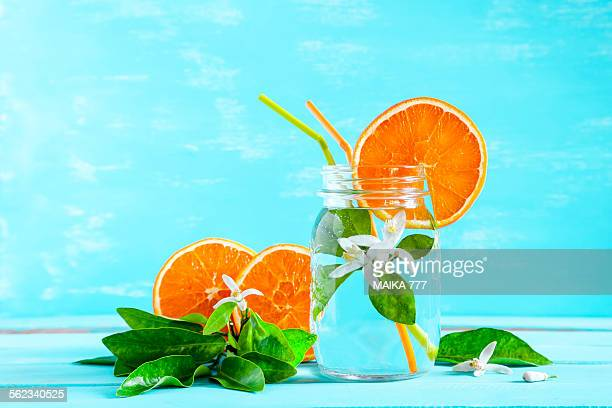 orange flower water or orange blossom water - orange blossom stock photos and pictures