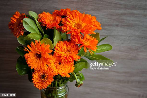 Orange flowers bouquet