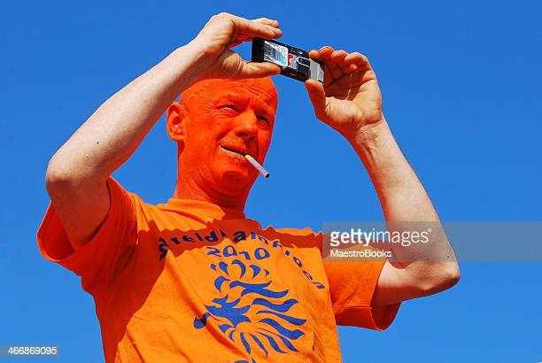 orange football fan. - museumplein stock pictures, royalty-free photos & images