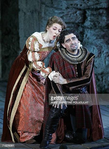 "Patrizia Ciof and Rolando Villazon perform in ""Lucia di Lammermoor"", a three-act opera by Donizetti directed by Paul-Emile Fourny and Marco..."