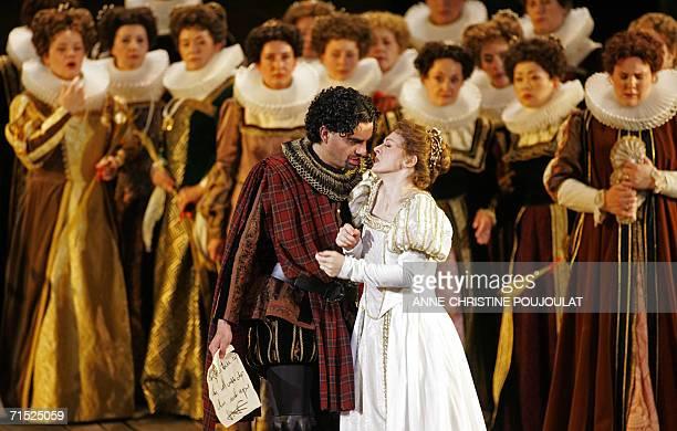 Rolando Villazon and Patrizia Ciofi perform in Lucia di Lammermoor a threeact opera by Donizetti directed by PaulEmile Fourny and Marco Guidarini 26...
