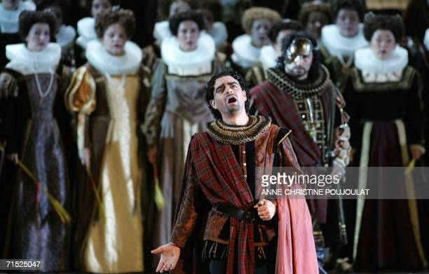 Rolando Villazon performs Lucia di Lammermoor a threeact opera by Donizetti directed by PaulEmile Fourny and Marco Guidarini 26 July 2006 at the...