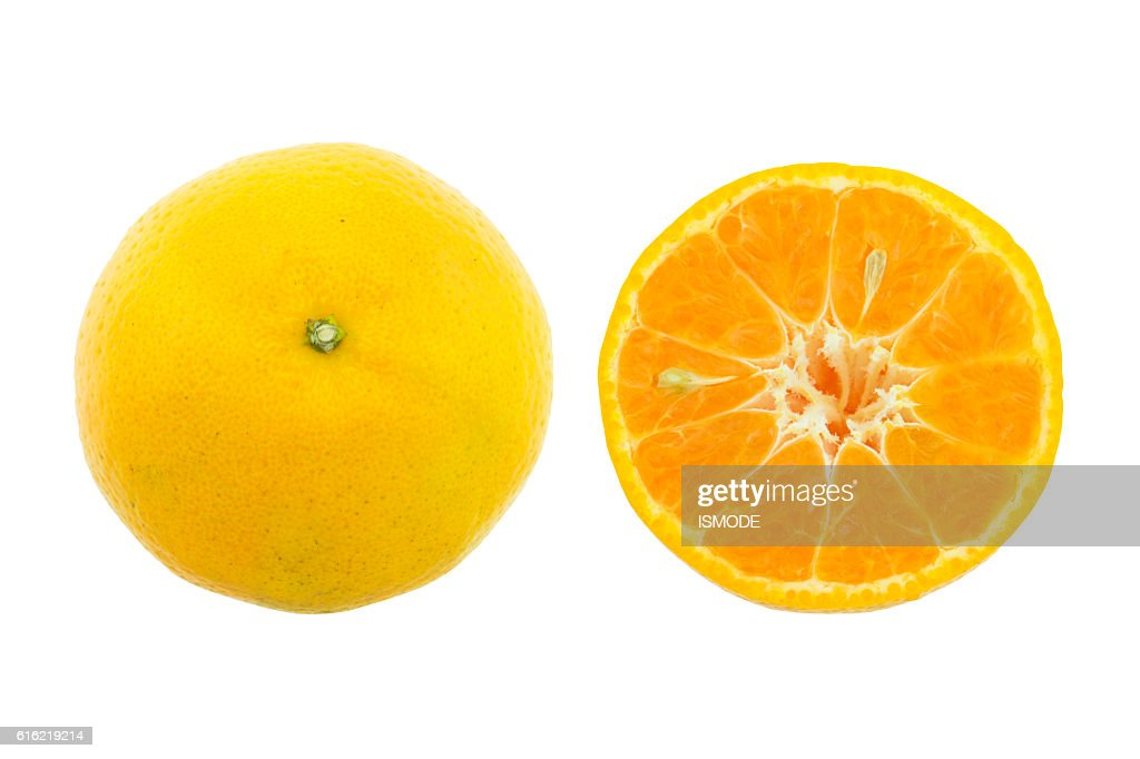 Orange fruit isolated on white background. : Stockfoto