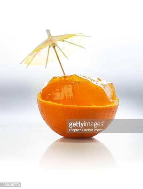 Orange gelatin dessert