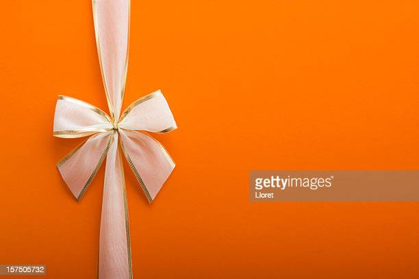 Orange Gift with a Bow