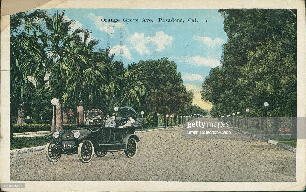 Orange Grove Avenue, Pasadena : News Photo
