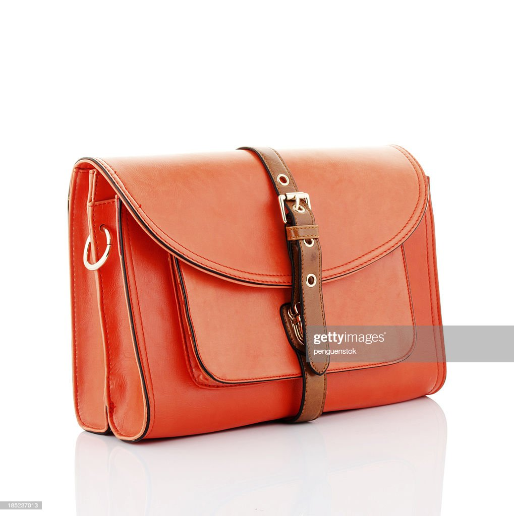 orange handbag : Stock Photo