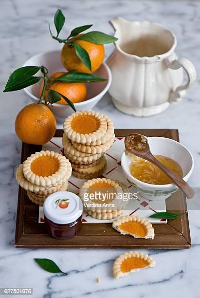 Orange jam cookies