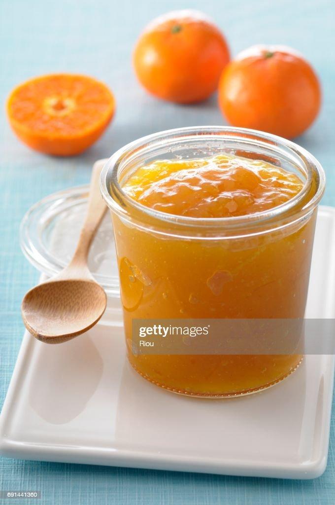 orange jam : Stock Photo