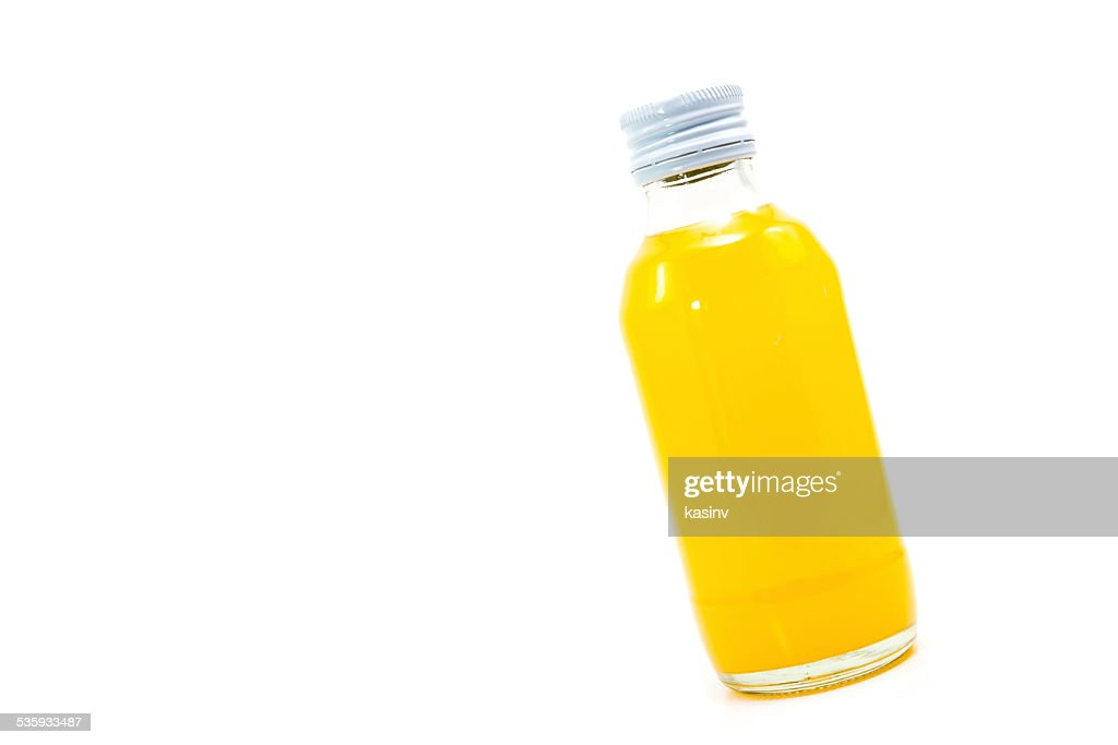 orange juice bottle : Stock Photo