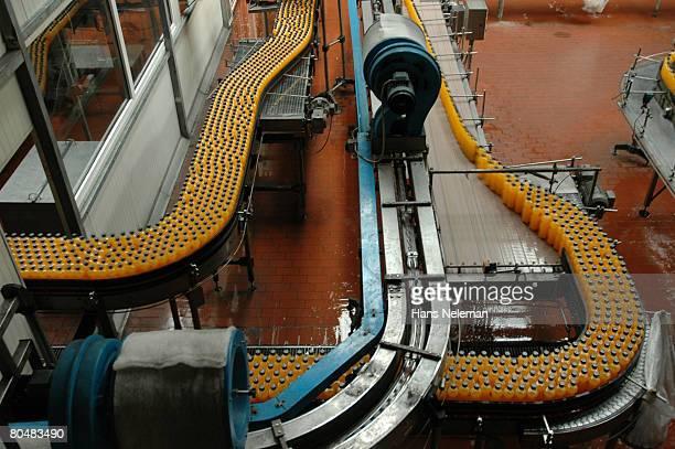 Orange juice factory, elevated view
